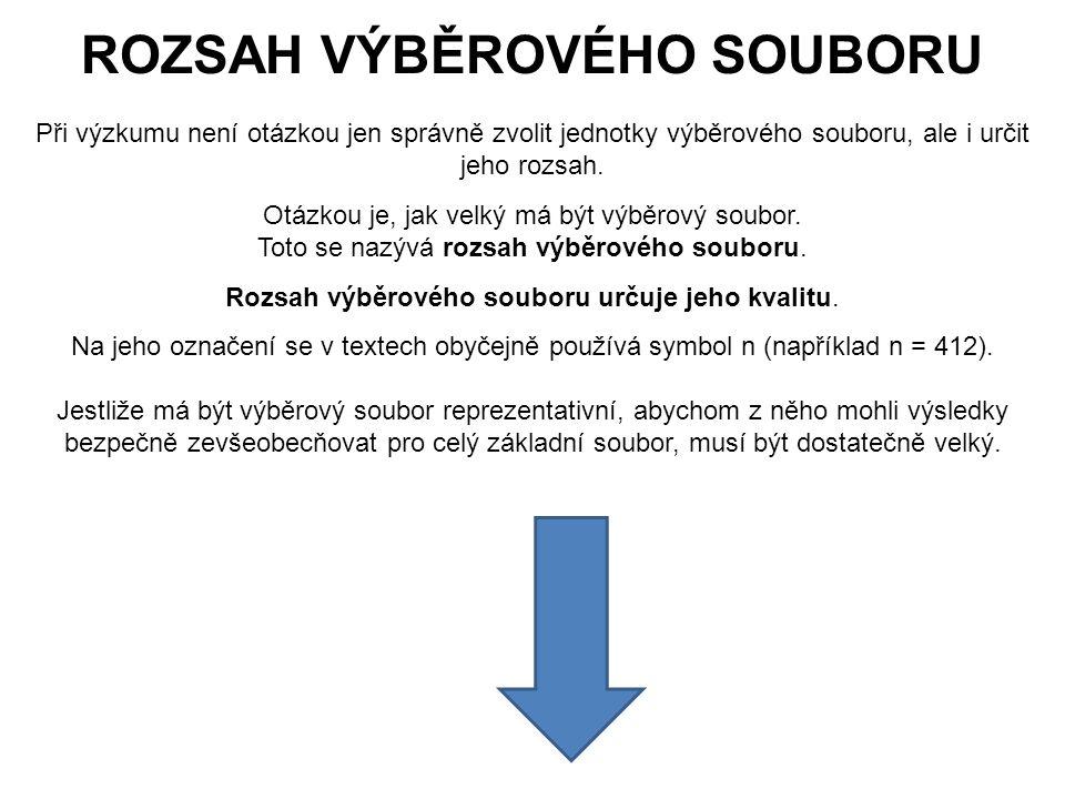 71 ROZSAH VÝBĚROVÉHO SOUBORU Při výzkumu není otázkou jen správně zvolit jednotky výběrového souboru, ale i určit jeho rozsah.