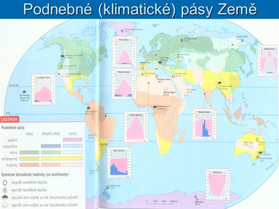 Biomy srovnej Podnebné (klimatické) pásy