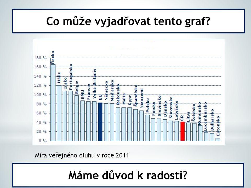 Co může vyjadřovat tento graf Míra veřejného dluhu v roce 2011 Máme důvod k radosti