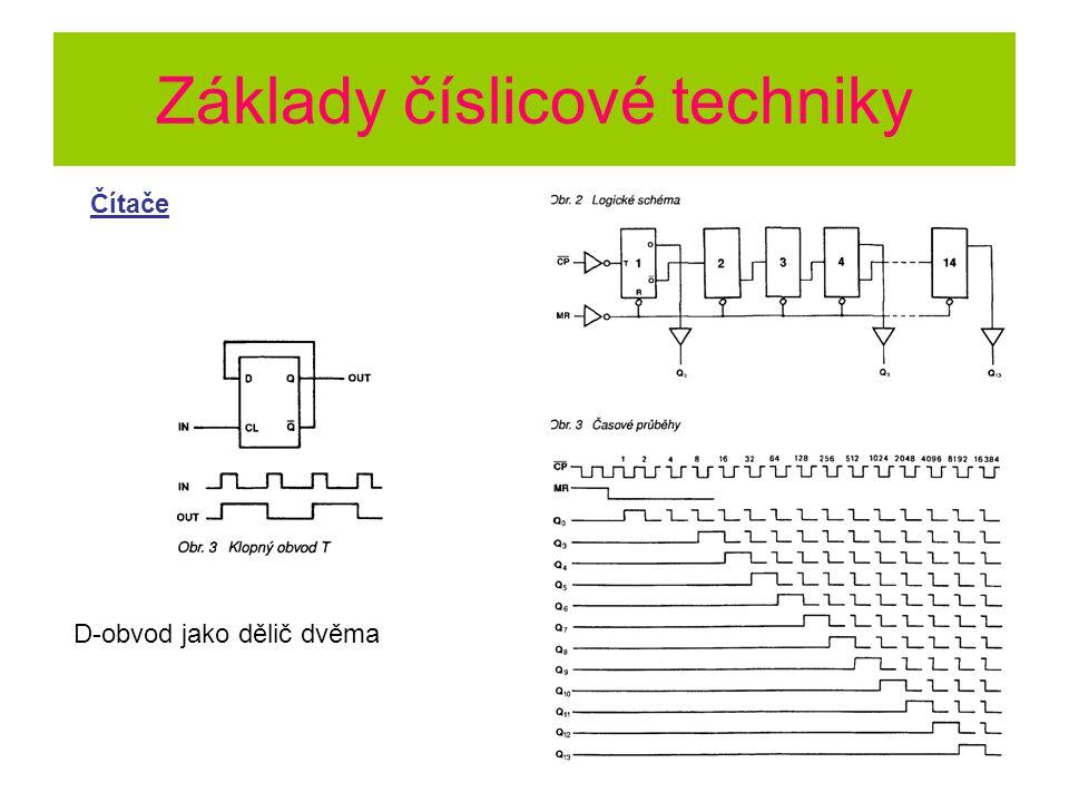 Základy číslicové techniky Čítače D-obvod jako dělič dvěma