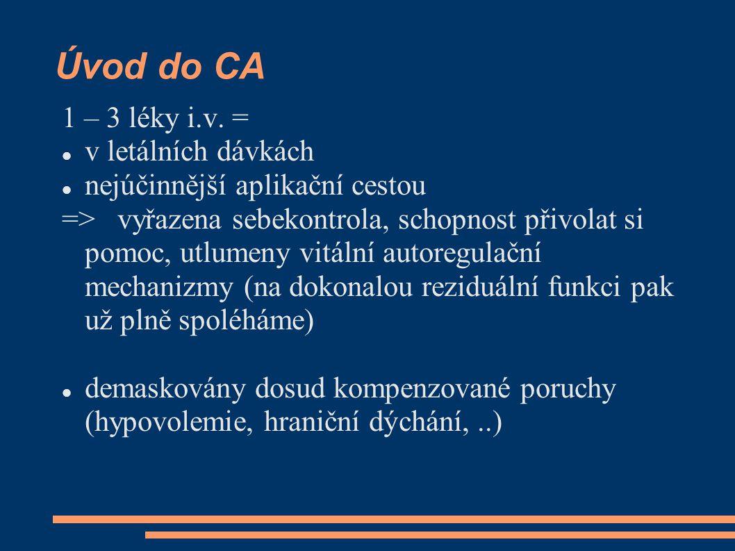 Úvod do CA 1 – 3 léky i.v.