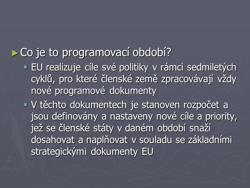 ► Co je to programovací období.