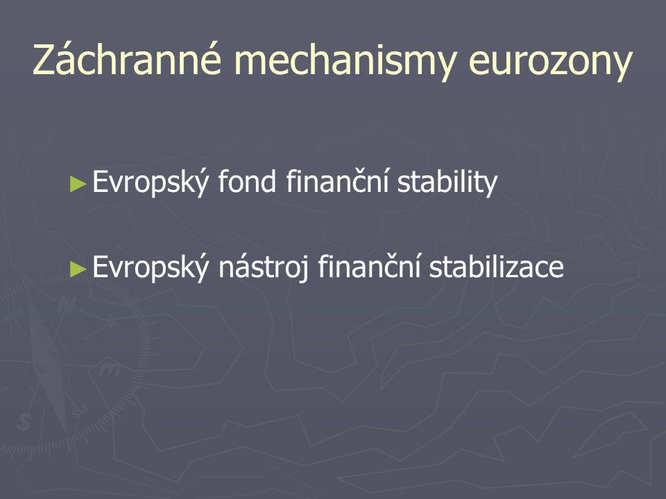 Záchranné mechanismy eurozony ► ► Evropský fond finanční stability ► ► Evropský nástroj finanční stabilizace