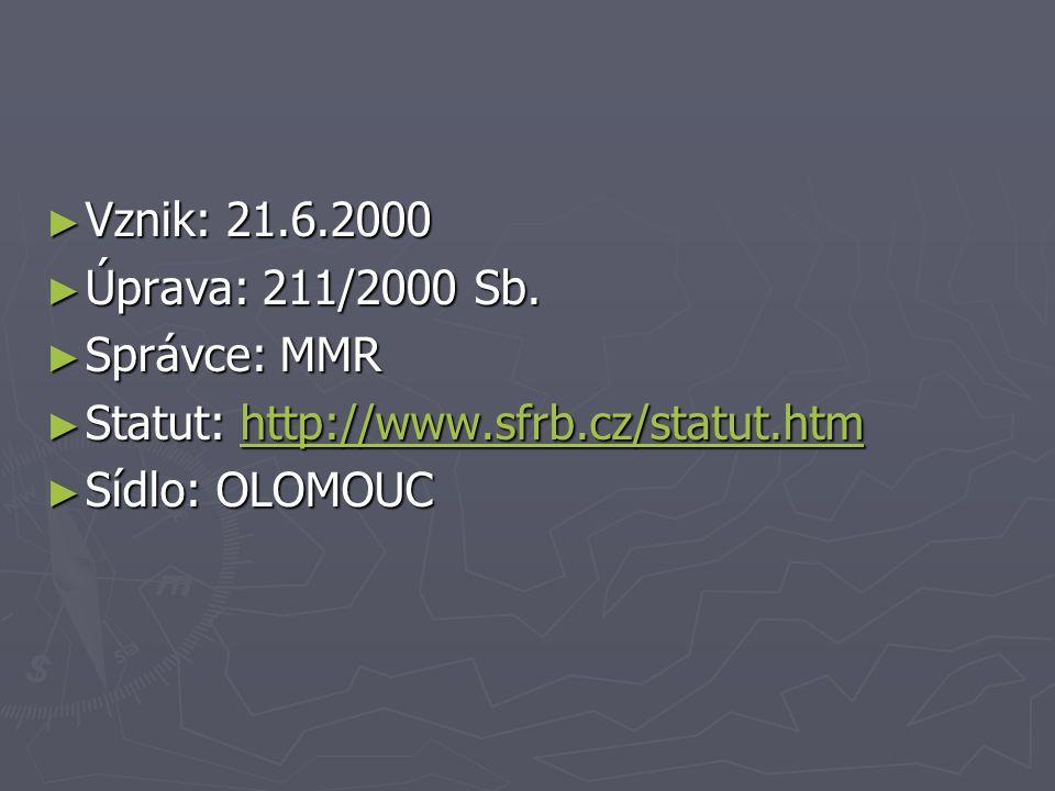 ► Vznik: 21.6.2000 ► Úprava: 211/2000 Sb.