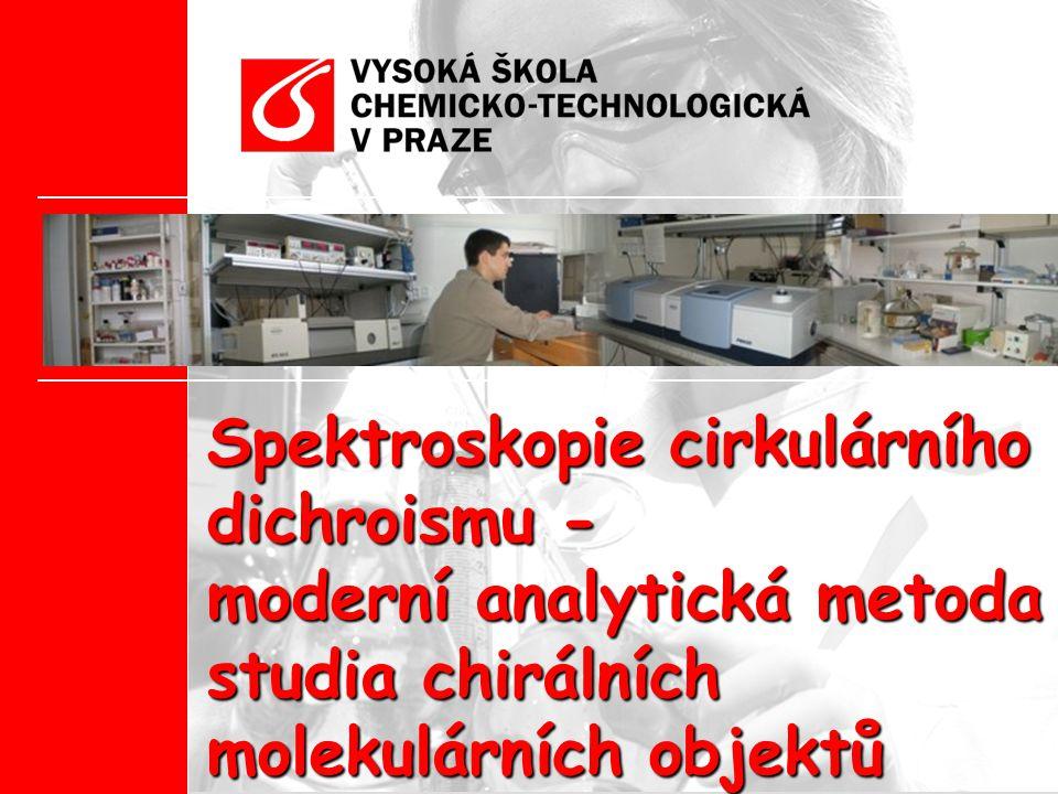 Spektroskopie cirkulárního dichroismu - moderní analytická metoda studia chirálních molekulárních objektů