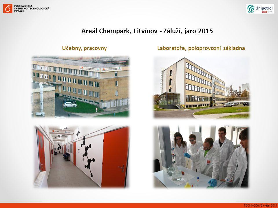 Učebny, pracovny Laboratoře, poloprovozní základna TECHNODAYS květen 2015 Areál Chempark, Litvínov - Záluží, jaro 2015