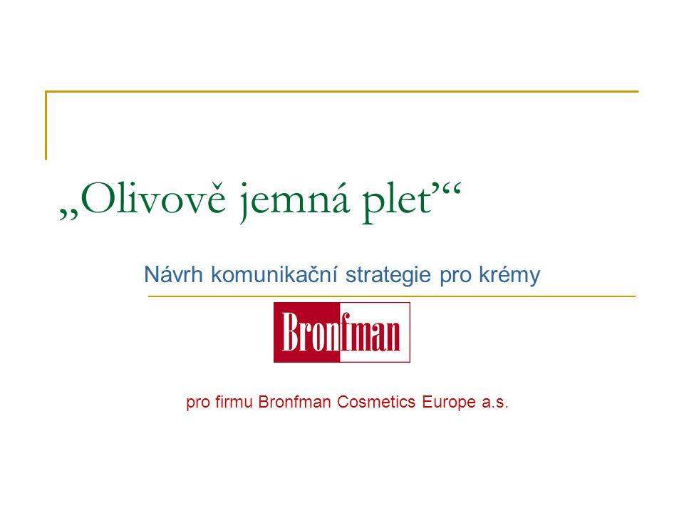 """""""Olivově jemná pleť"""" Návrh komunikační strategie pro krémy pro firmu Bronfman Cosmetics Europe a.s."""