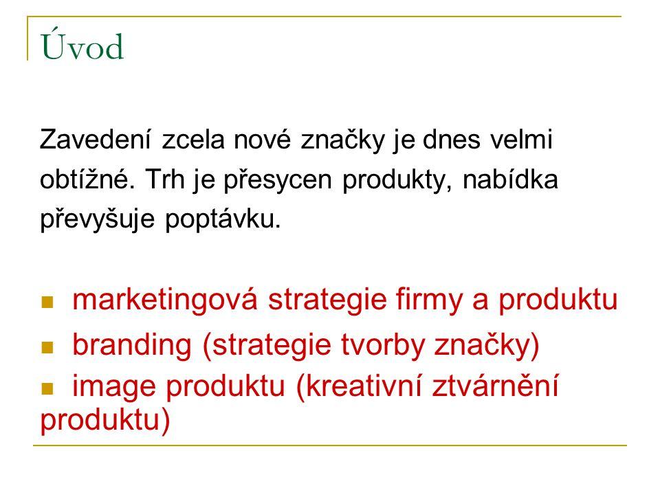 Úvod Zavedení zcela nové značky je dnes velmi obtížné. Trh je přesycen produkty, nabídka převyšuje poptávku. marketingová strategie firmy a produktu b