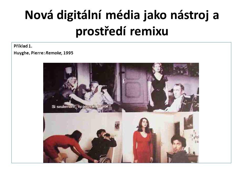 Nová digitální média jako nástroj a prostředí remixu Příklad 1. Huyghe, Pierre: Remake, 1995