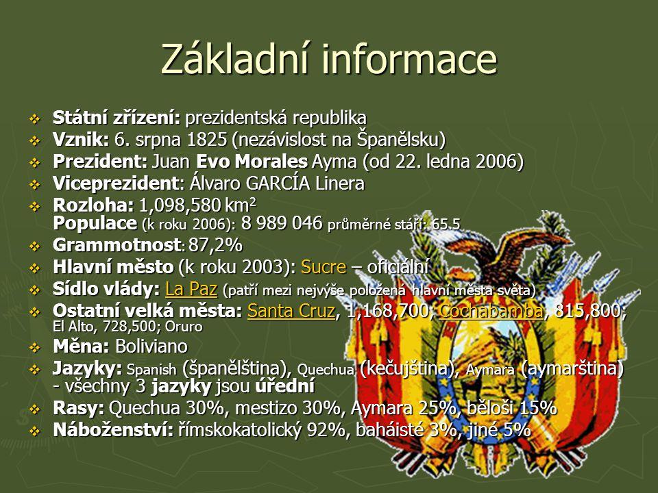 Základní informace  Státní zřízení: prezidentská republika  Vznik: 6.