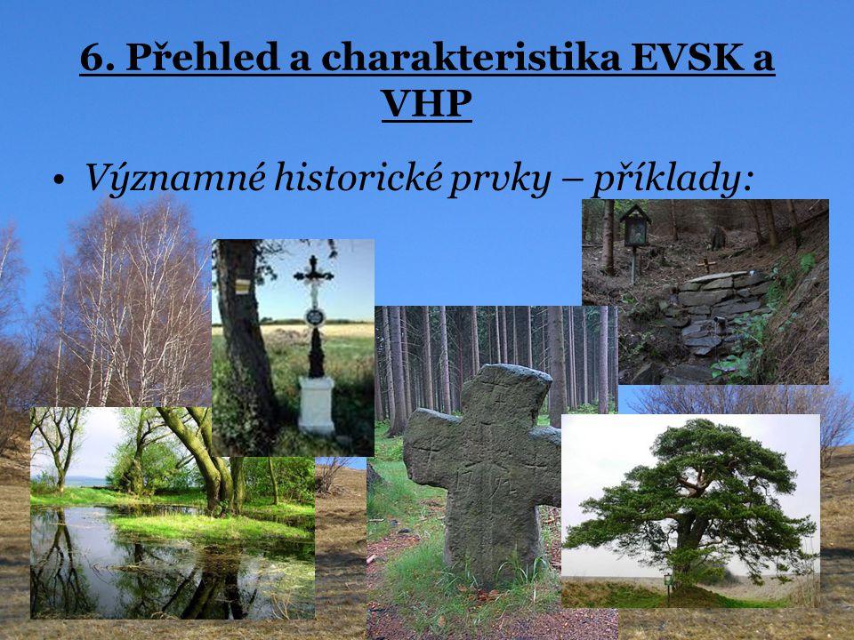 6. Přehled a charakteristika EVSK a VHP Významné historické prvky – příklady: