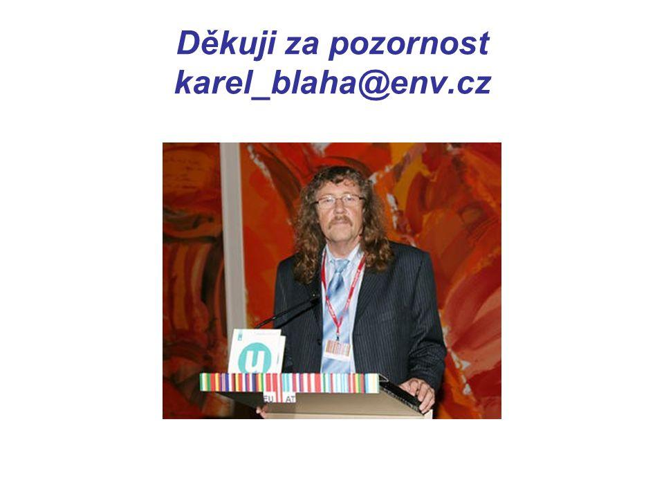 Děkuji za pozornost karel_blaha@env.cz