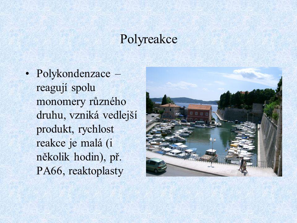 Hlediska pro rozdělení polymerů 1) organické anorganické 2) amorfní krystalické 3) termoplasty reaktoplasty elastomery