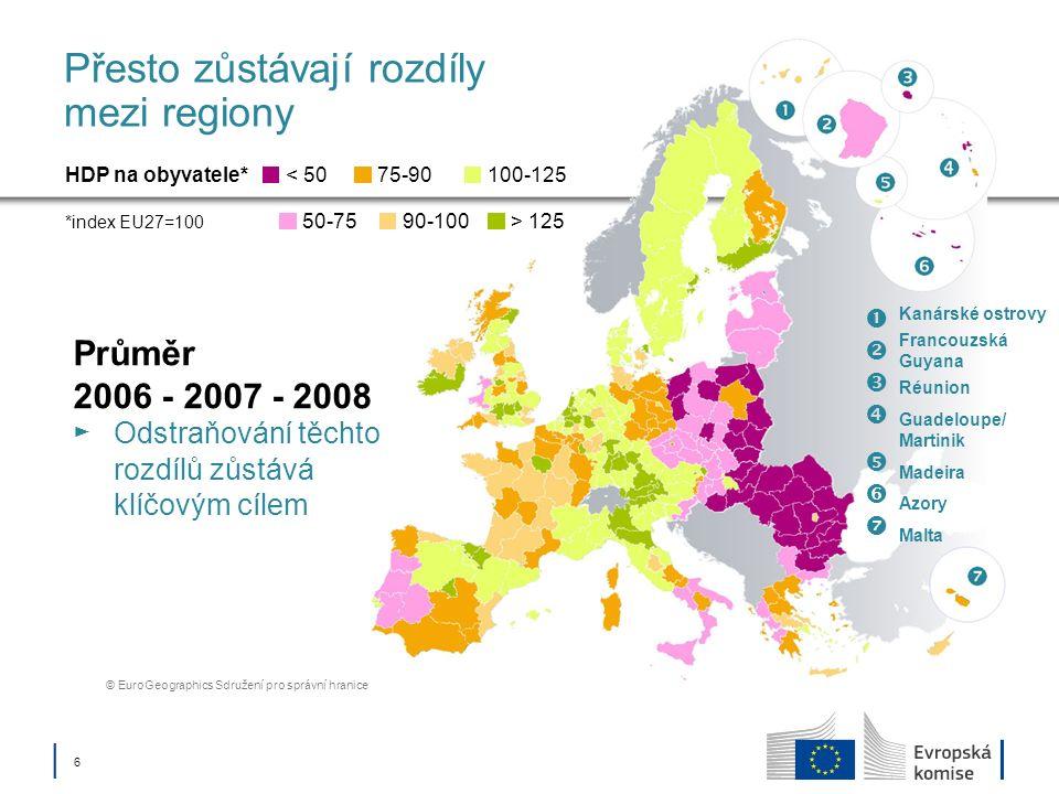 17 Fond soudržnosti Podporuje členské státy s HND na obyvatele < 90 % průměru EU27 Investice do oblasti životního prostředí Přizpůsobení se klimatickým změnám a předcházení rizikům Sektor vody a odpadů Biologická rozmanitost včetně zelené infrastruktury Městské životní prostředí Nízkouhlíková ekonomika Investice do dopravy Transevropská dopravní síť (TEN-T) Systémy nízkouhlíkové dopravy a městská doprava