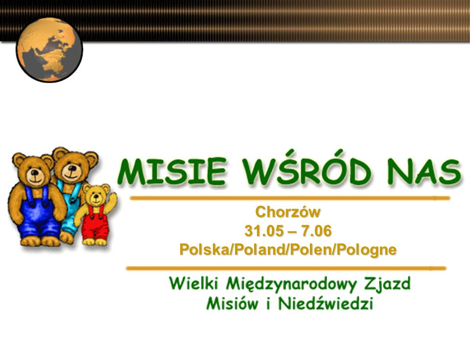 Prezentacja EwaB. www.misie.com.pl Díte a detství to je vyjímecná láska... Charles Pequy