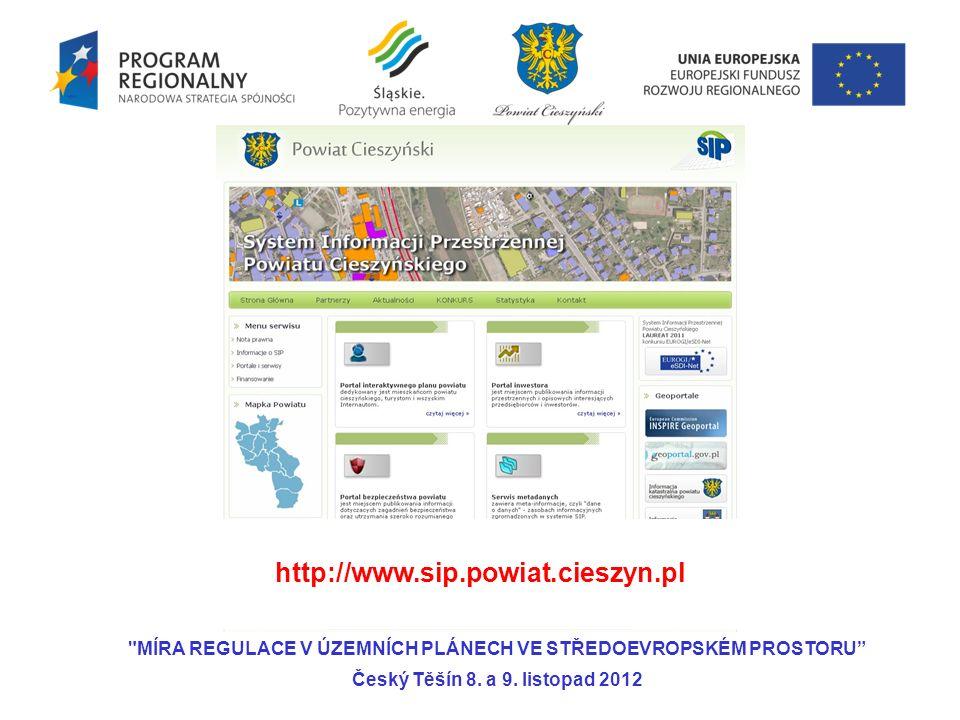 Aktualna: Geodezja- ČUZK Planowana: Planowanie przestrzenne- MSK lub Obce MÍRA REGULACE V ÚZEMNÍCH PLÁNECH VE STŘEDOEVROPSKÉM PROSTORU Český Těšín 8.