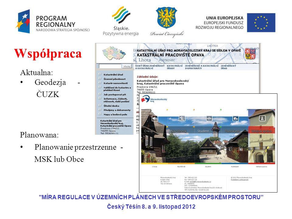 Aktualna: Geodezja- ČUZK Planowana: Planowanie przestrzenne- MSK lub Obce