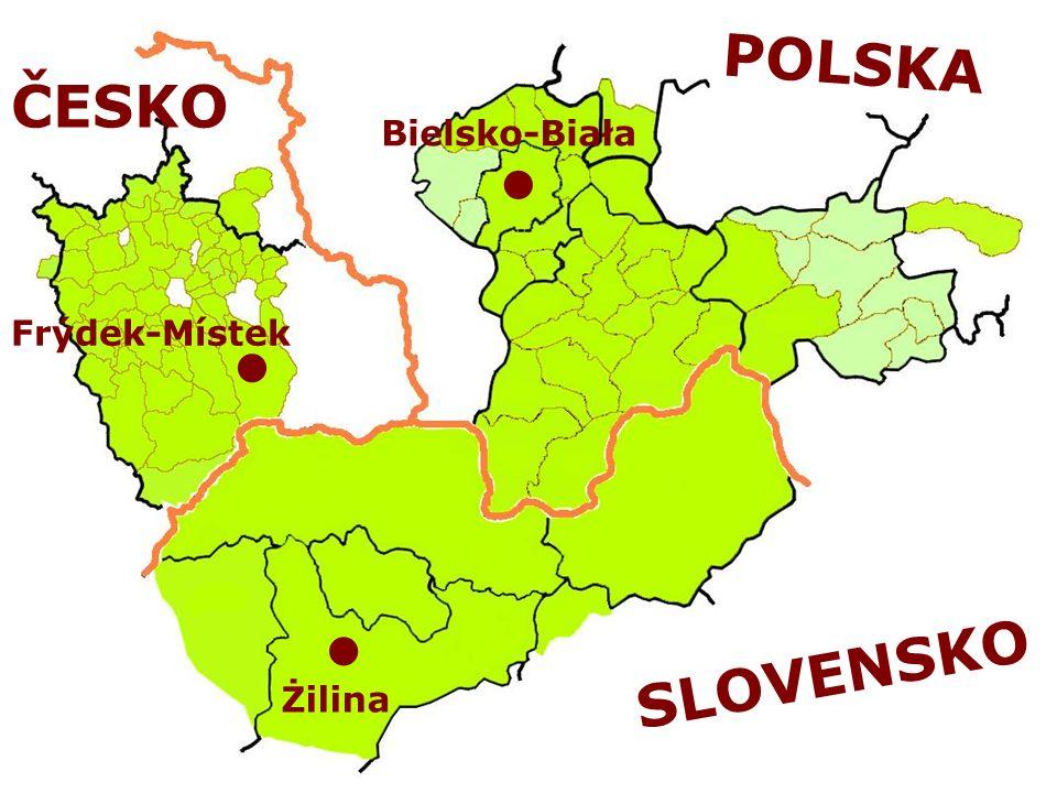 POLSKA Bielsko-Biała Żilina ČESKO Frýdek-Místek SLOVENSKO