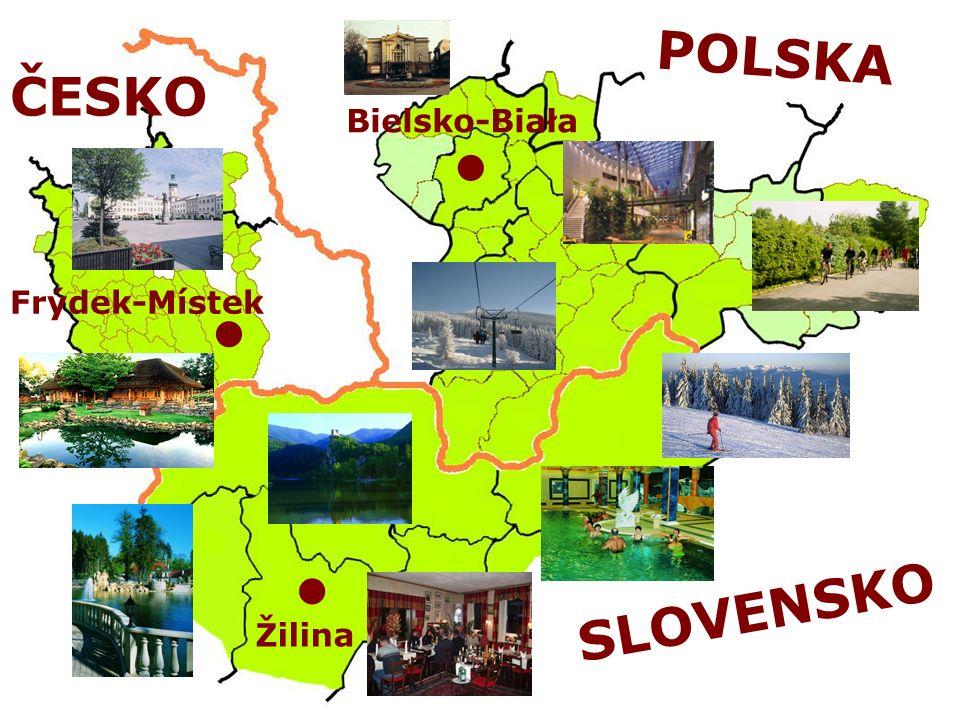POLSKA SLOVENSKO Bielsko-Biała Frýdek-Místek Žilina ČESKO