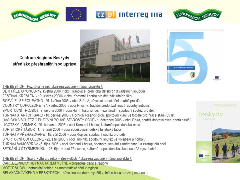 Centrum Regionu Beskydy středisko přeshraniční spolupráce THE BEST OF - Poznáváme se / akce realizované v rámci projektu /: DĚTI PŘED OPONOU- 12. květ