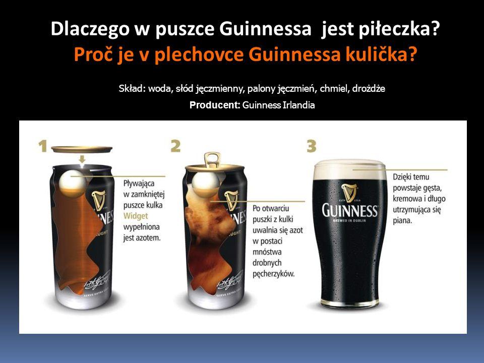 Dlaczego w puszce Guinnessa jest piłeczka Proč je v plechovce Guinnessa kulička