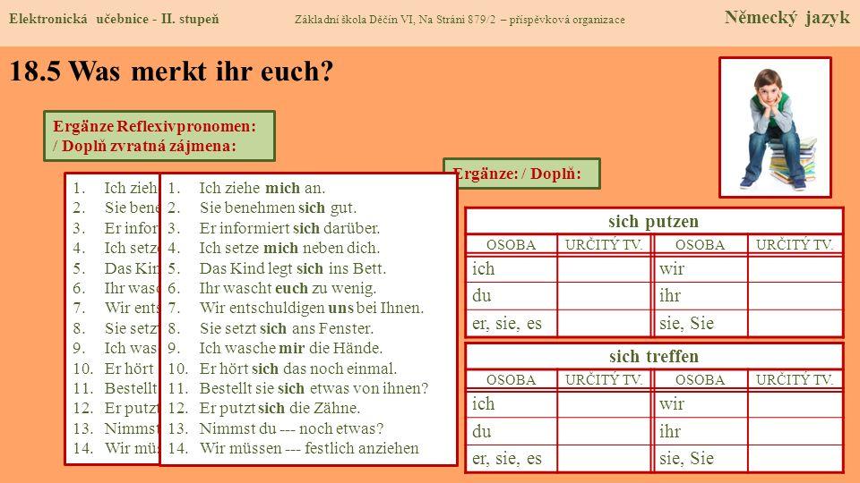 18.6 Etwas zusätzlich für geschickte Schüler Elektronická učebnice - II.