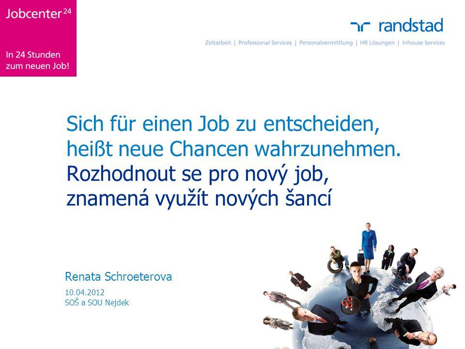 Sich für einen Job zu entscheiden, heißt neue Chancen wahrzunehmen.