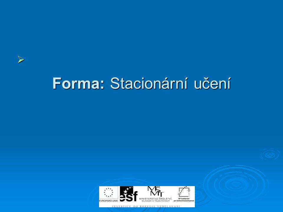 Forma: Stacionární učení