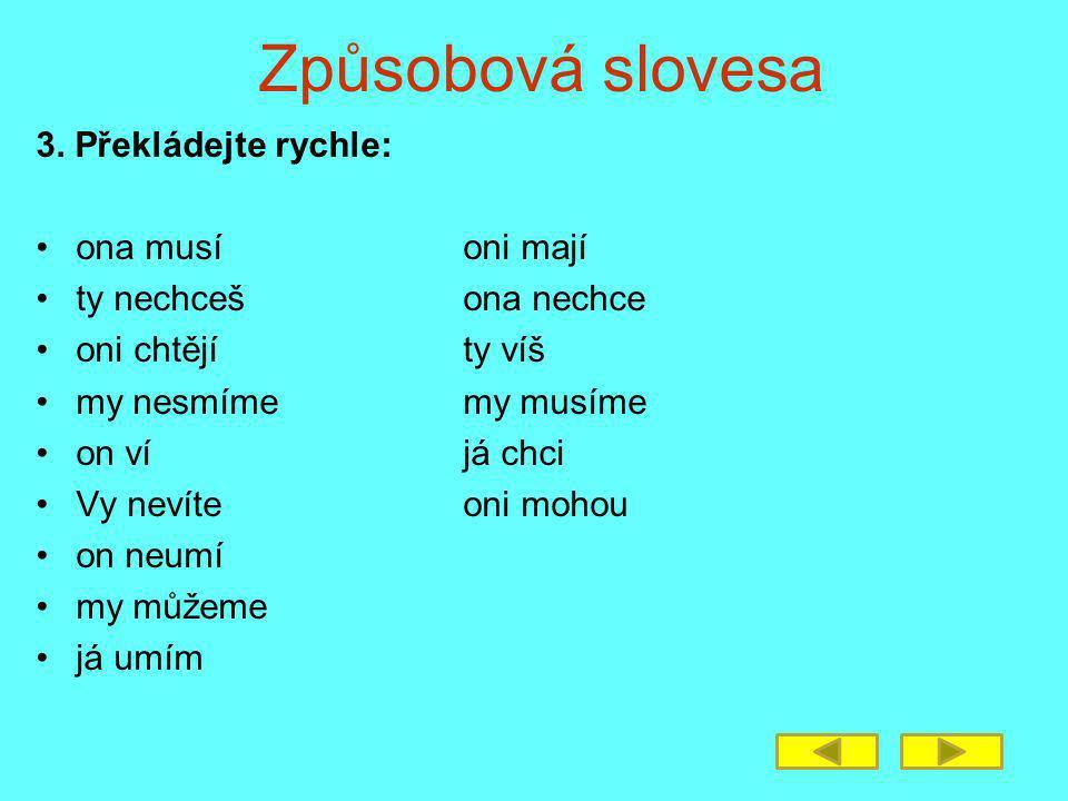 Způsobová slovesa 3.