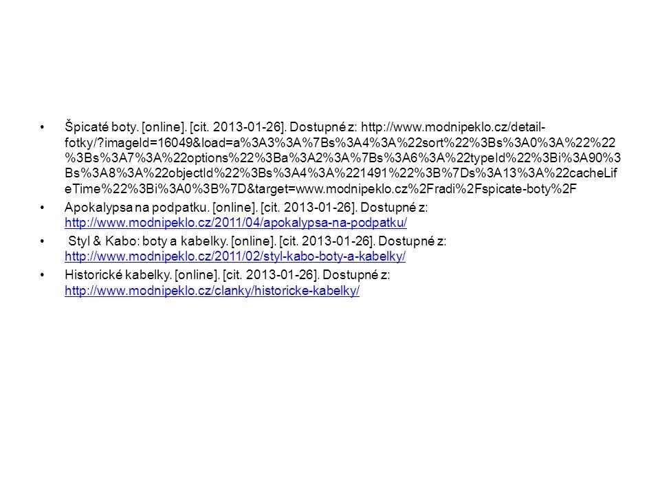 Špicaté boty. [online]. [cit. 2013-01-26].