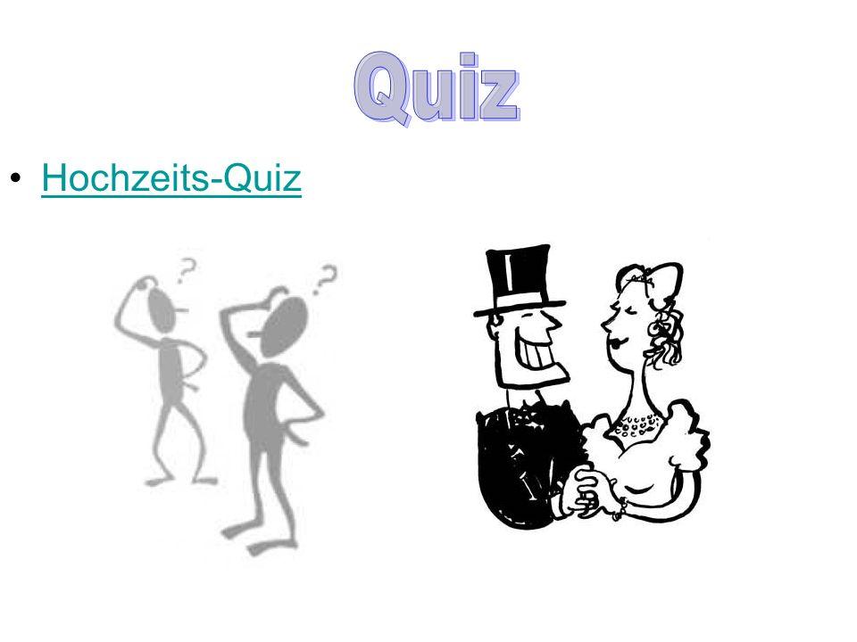 Hochzeits-Quiz