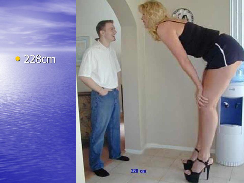 Tahle má dokonce Tahle má dokonce 228cm. 228cm.