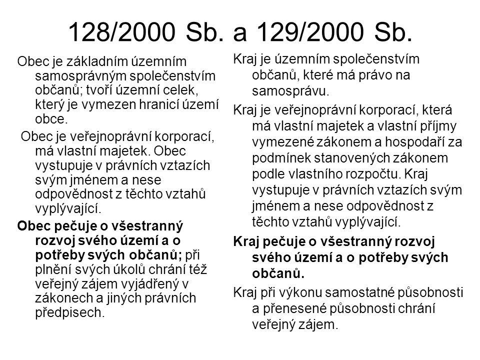 128/2000 Sb.a 129/2000 Sb.