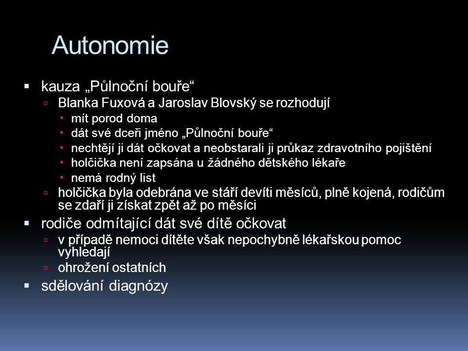 """Autonomie  kauza """"Půlnoční bouře""""  Blanka Fuxová a Jaroslav Blovský se rozhodují  mít porod doma  dát své dceři jméno """"Půlnoční bouře""""  nechtějí"""