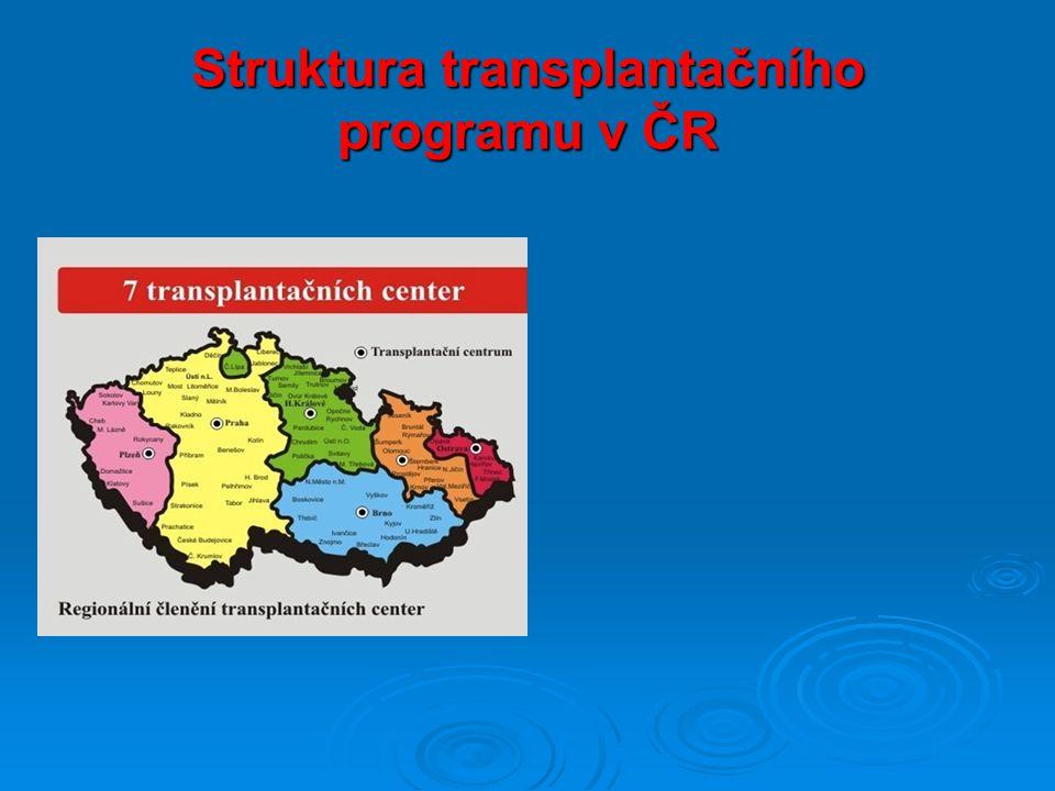 Struktura transplantačního programu v ČR
