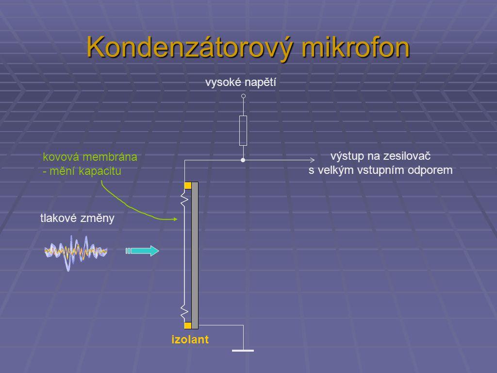 Kondenzátorový mikrofon + 500 V + 12 V výstup