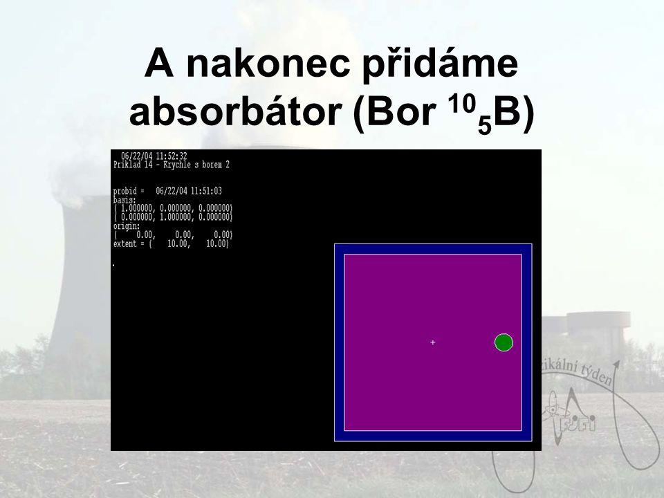 A nakonec přidáme absorbátor (Bor 10 5 B)