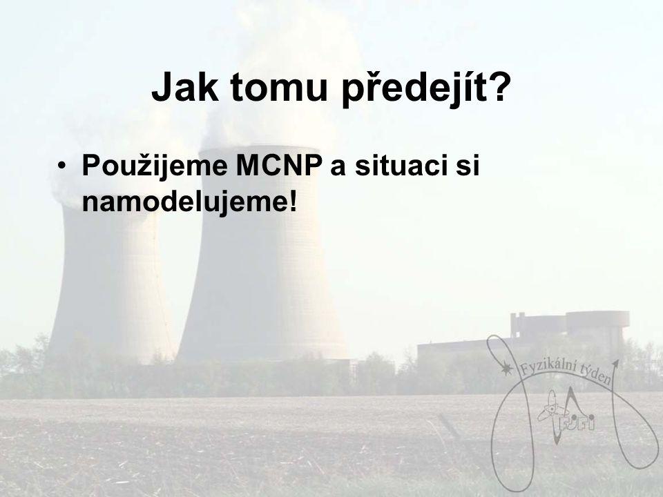 Jak tomu předejít? Použijeme MCNP a situaci si namodelujeme!