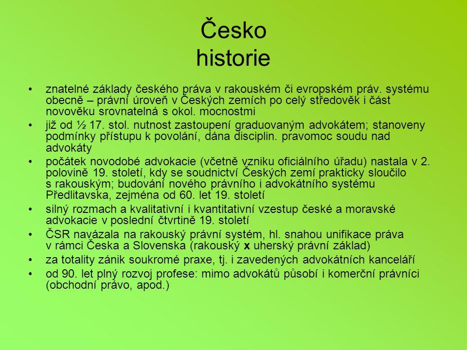 Česko historie znatelné základy českého práva v rakouském či evropském práv.
