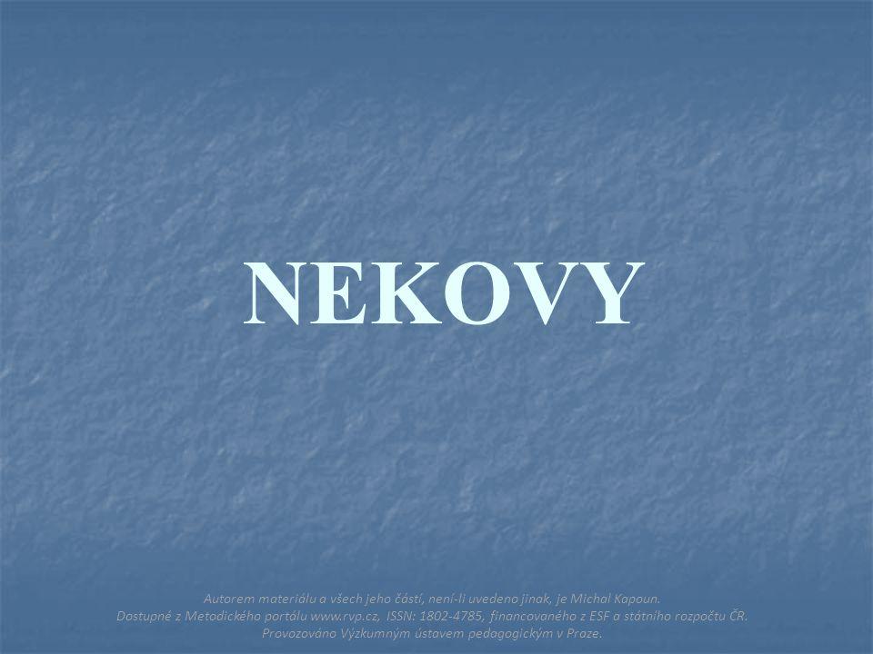 STŘÍBRO Autorem materiálu a všech jeho částí, není-li uvedeno jinak, je Michal Kapoun.
