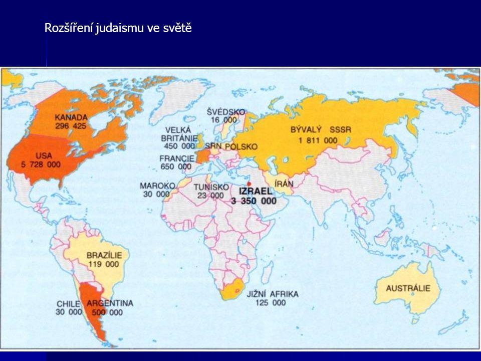 Rozšíření judaismu ve světě