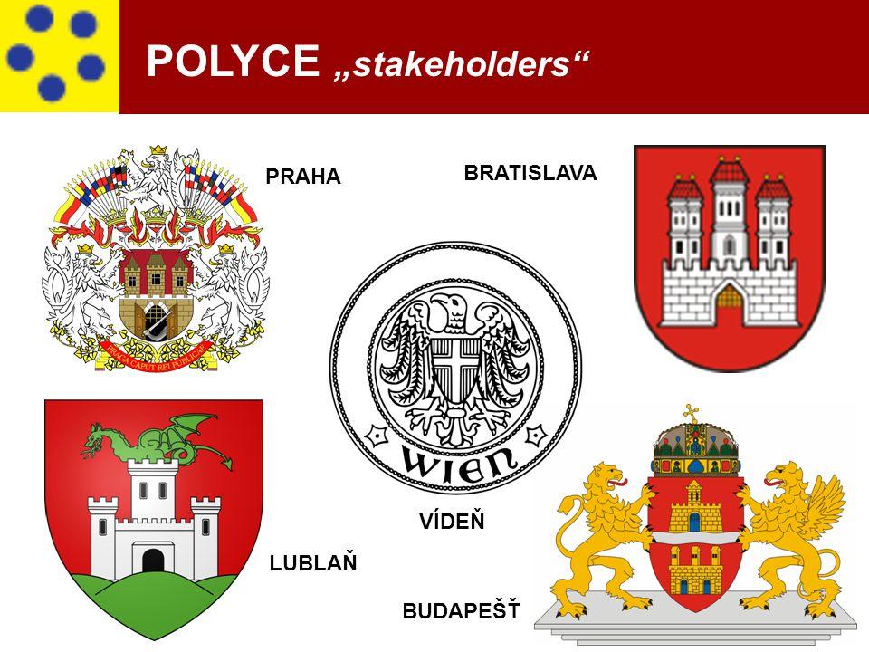 """3 PRAHA BRATISLAVA VÍDEŇ LUBLAŇ BUDAPEŠŤ POLYCE """"stakeholders"""""""