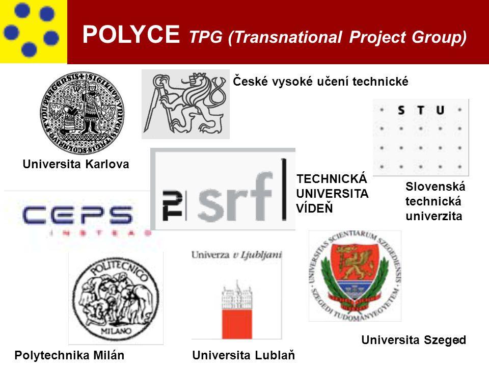 4 České vysoké učení technické Universita Karlova Slovenská technická univerzita TECHNICKÁ UNIVERSITA VÍDEŇ Universita Lublaň Universita Szeged Polyte