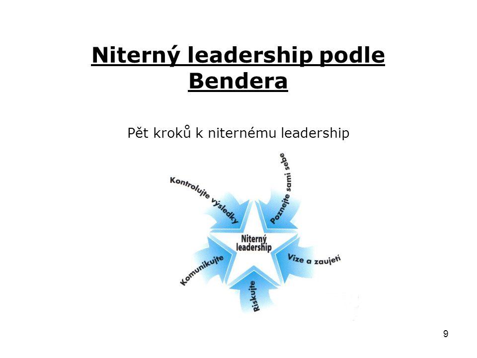 9 Niterný leadership podle Bendera Pět kroků k niternému leadership