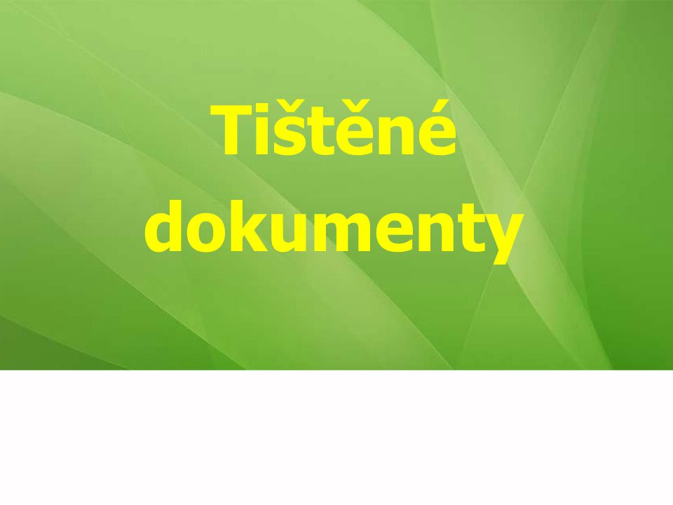 Citování tištěných dokumentů Citovaný text mít fyzicky u sebe Zdroje informací  Titulní list  Rub titulního listu  Tiráž  [Externí zdroje]  [Odhad]