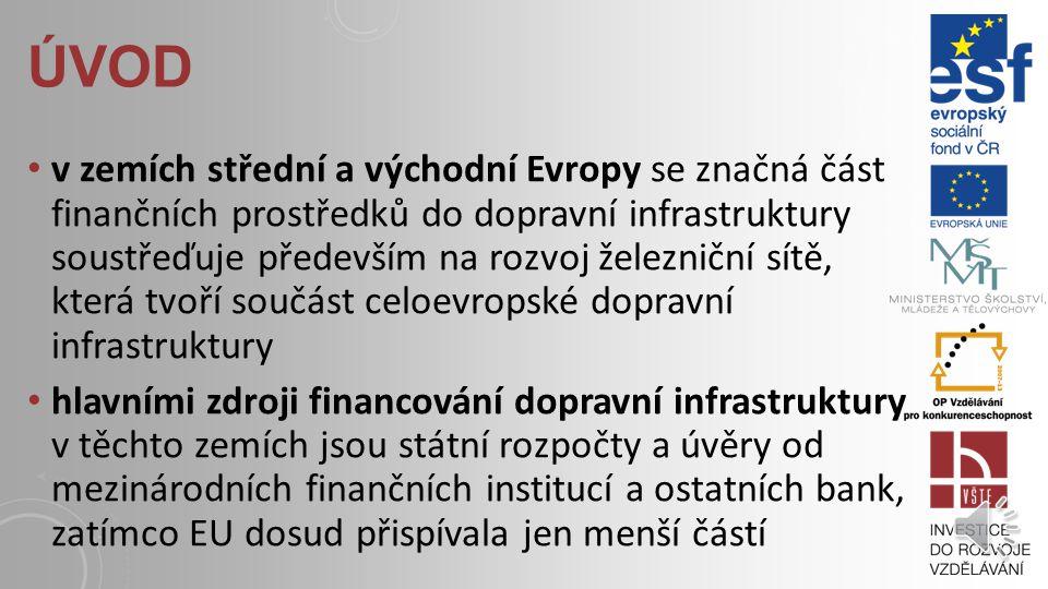 ÚVOD projekty v oblasti dopravní infrastruktury se vyznačují poměrně značnou investiční náročností hlavním zdrojem financování většiny těchto projektů