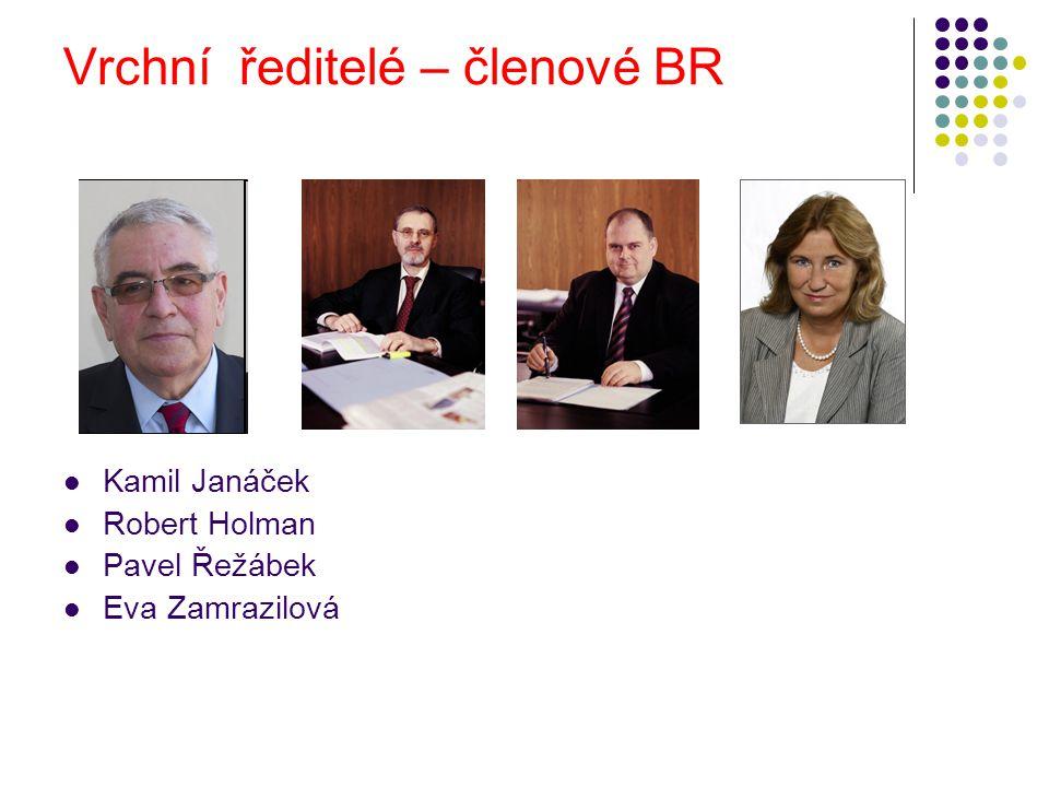 Vrchní ředitelé – členové BR Kamil Janáček Robert Holman Pavel Řežábek Eva Zamrazilová