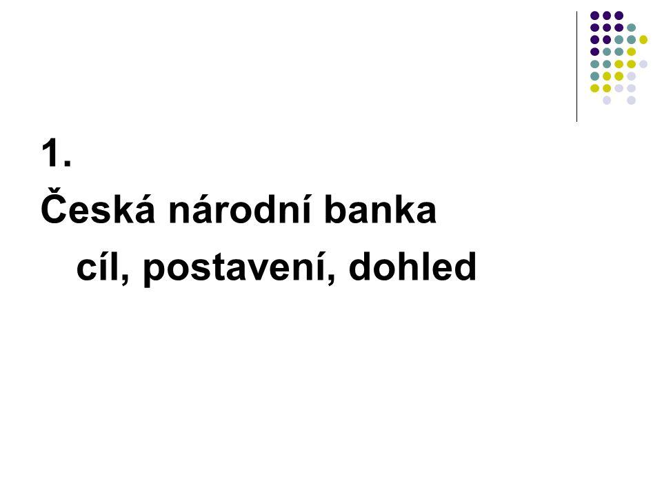 Struktura bankovní rady 7 členů guvernér 2 viceguvernéři 4 členové BR