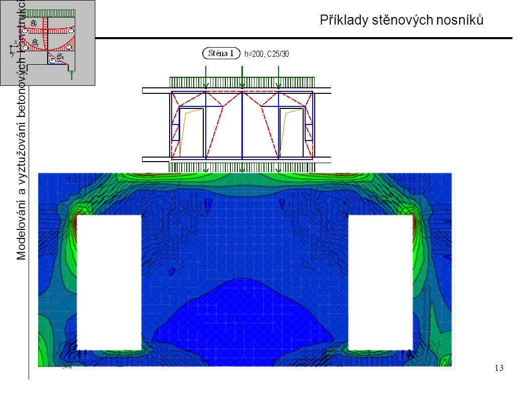 13 Příklady stěnových nosníků Modelování a vyztužování betonových konstrukcí