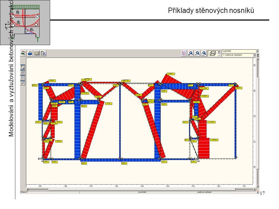 17 Příklady stěnových nosníků Modelování a vyztužování betonových konstrukcí